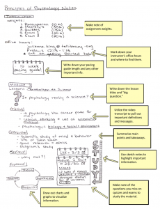 Annotated example of basic sketchnotes